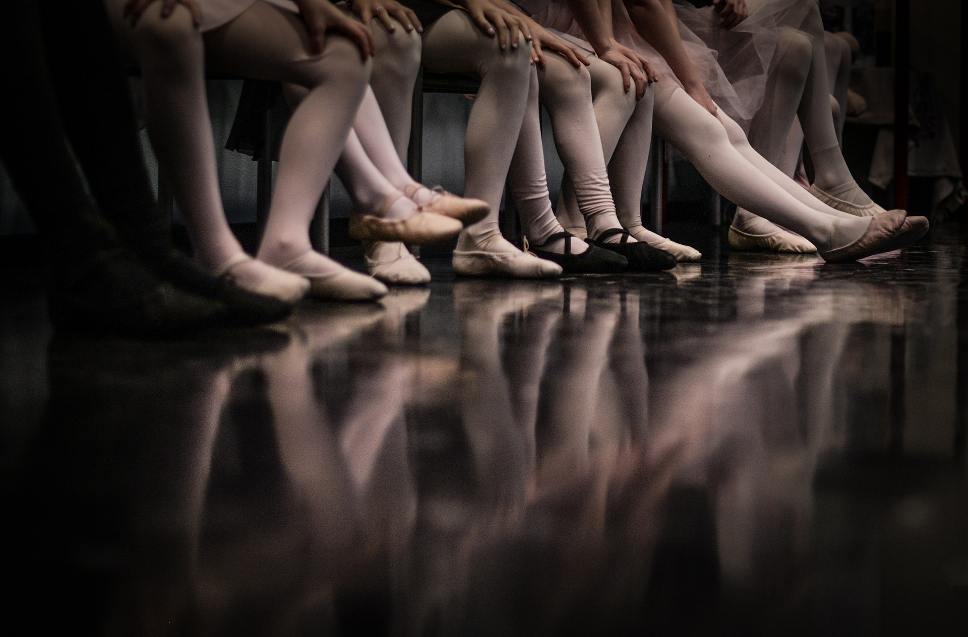 Ballet Dancers Seated